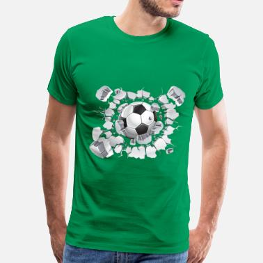 Wall ball smashes wall - Men's Premium T-Shirt