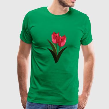 Red Tulips - Men's Premium T-Shirt