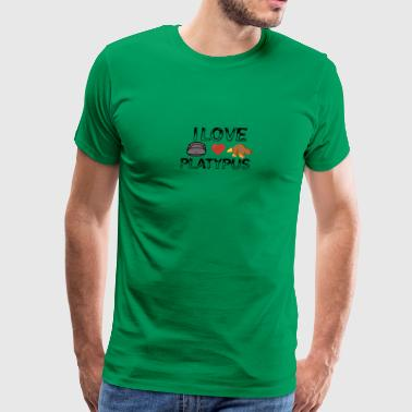 I love platypus - Men's Premium T-Shirt