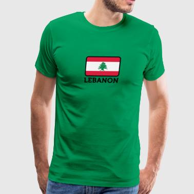 National Flag Of Lebanon - Men's Premium T-Shirt