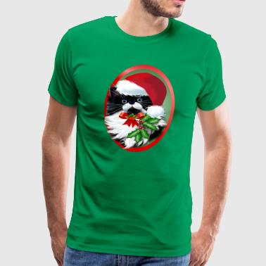 TUXEDO KITTY CHRISTMAS - Men's Premium T-Shirt
