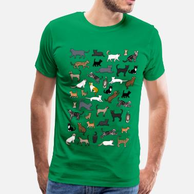 Pixelated Cats many cat pixel - Men's Premium T-Shirt