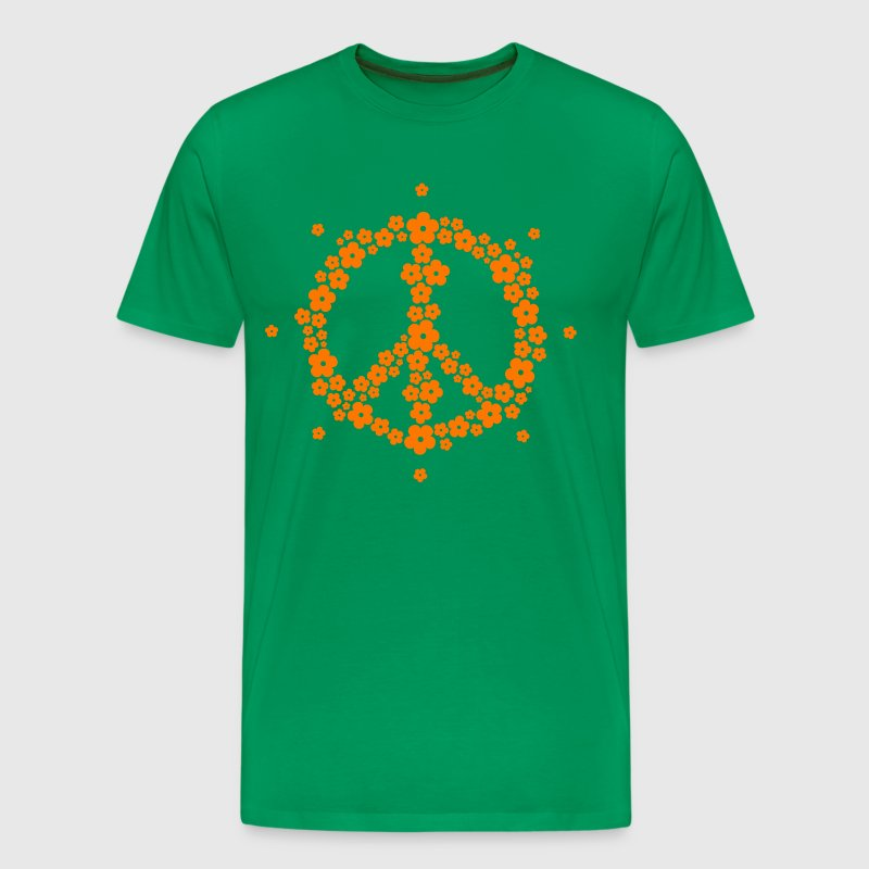 Flower Hippie Peace Sign 60's Love Psychedelic rev - Men's Premium T-Shirt