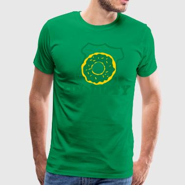 on duty police shield and doughnut - Men's Premium T-Shirt