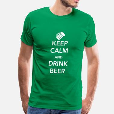 Keep Calm Keep Calm and Drink Beer - T-shirt premium pour hommes