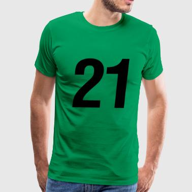 helvetica number 21 - Men's Premium T-Shirt