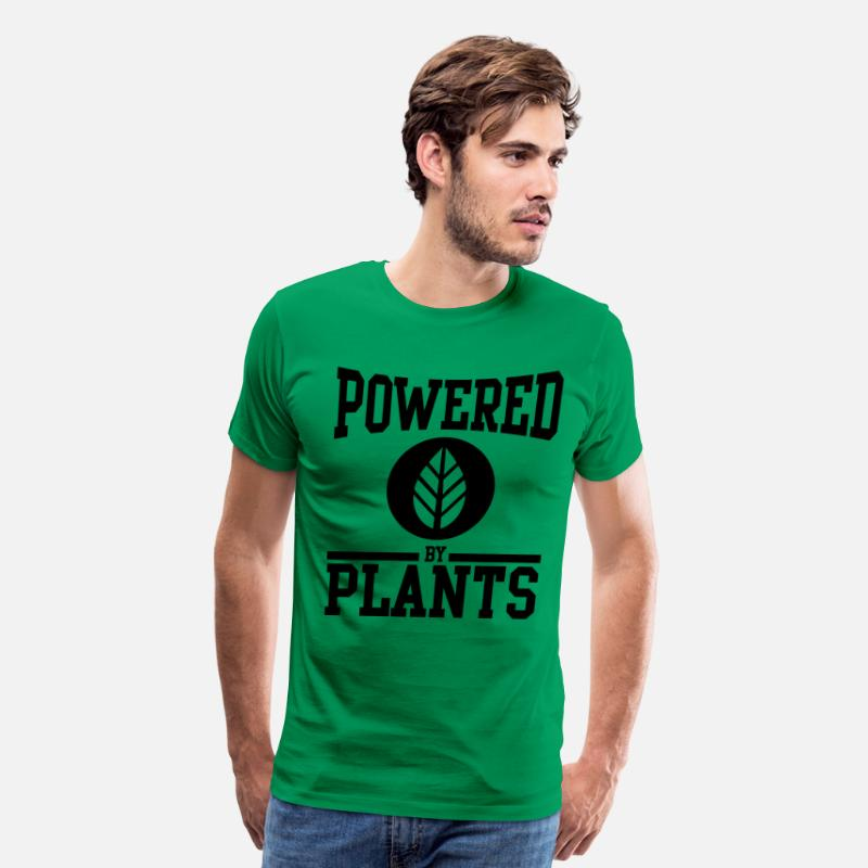 Vegan T-Shirts - Powered by Plants - Men's Premium T-Shirt kelly green
