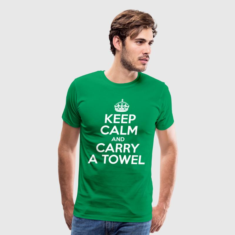Keep Calm And Carry A Towel - Men's Premium T-Shirt