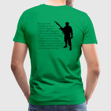 A Proud Soldier - Men's Premium T-Shirt