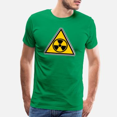 Bomb Nuclear radioactive warning triangle - Men's Premium T-Shirt