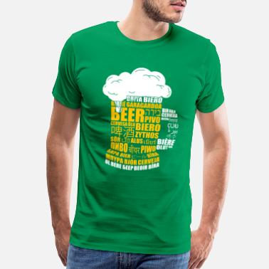 Russian Language Multilingual BEER Keg Design Gift for Translators - Men's Premium T-Shirt