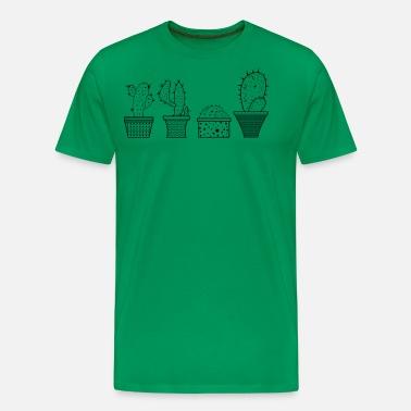 4f85723f9e Black Cactus Print T-Shirt Men's Premium T-Shirt | Spreadshirt