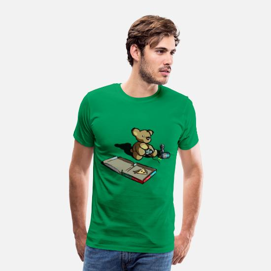Gamer T-Shirts - Teddy The Gamer - Men's Premium T-Shirt kelly green