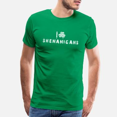 San San Gift Happy st patricks day leprechaun shenanigans - Men's Premium T-Shirt