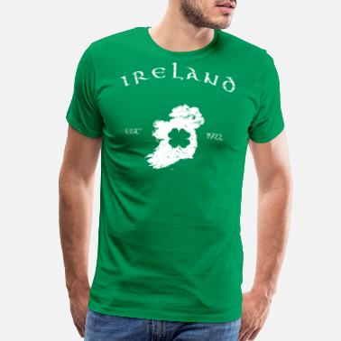 Map Of Ireland Ireland Vintage Map - Men's Premium T-Shirt