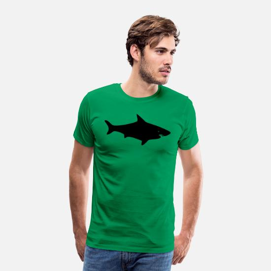 Death T-Shirts - A GREAT WHITE SHARK - Men's Premium T-Shirt kelly green