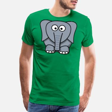 Cute Cartoon Elephant - Men's Premium T-Shirt