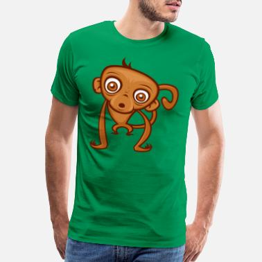 Monkey Vector Silly Cartoon Monkey - Men's Premium T-Shirt