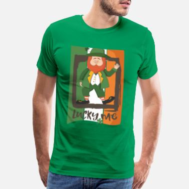 I Love Beer Lucky Me Leprechaun - Irish Talisman - Lucky day - Men's Premium T-Shirt