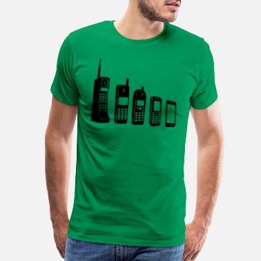 Cell Phone Handy Evolution - Men's Premium T-Shirt