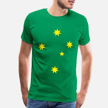 Green And Gold Aussie Green and Gold Southern Cross Tee - Men's Premium T-Shirt