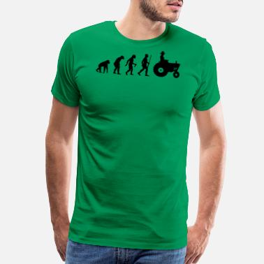 Evolution Farmer Farmer Evolution - Men's Premium T-Shirt