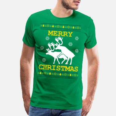 Not A Pervert ugly christmas funny deers - Men's Premium T-Shirt