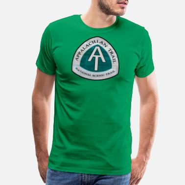 Blaze Rustic Appalachian Trail AT Logo - Men's Premium T-Shirt