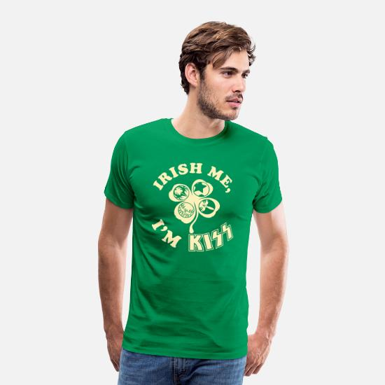 St T-Shirts - Irish Me, I'm Kiss! - Men's Premium T-Shirt kelly green