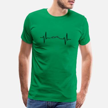 Mountain Beat My heart beats for mountains! gift - Men's Premium T-Shirt