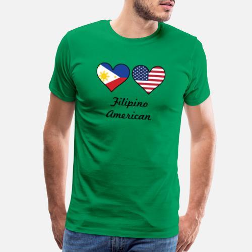 58d195046b8 Filipino American Flag Hearts - Men s Premium T-Shirt. Back. Back. Design.  Front