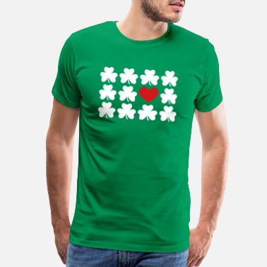 Paddy Day Shamrocks - Men's Premium T-Shirt