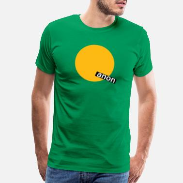 Expand Your Thinking Yellow Minimalist Q - Men's Premium T-Shirt