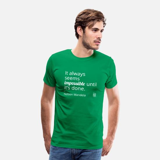 Typography T-Shirts - Impossible - Men's Premium T-Shirt kelly green