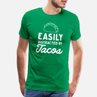 Easily Distracted By Tacos - Men's Premium T-Shirt
