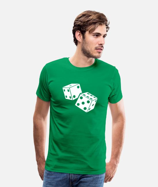 Board Game T-Shirts - Dice - Board Game - Men's Premium T-Shirt kelly green