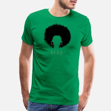 Afro-latino Black Afro American Latina Natural Hair - Men's Premium T-Shirt