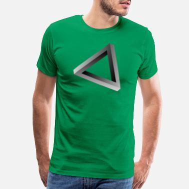 Visualization 3d Impossible triangle visual optical illusion - Men's Premium T-Shirt