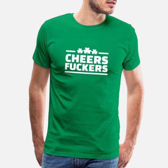 Patricks Day Drinking Mens T-Shirt 7 Size Cheers Fuckers St