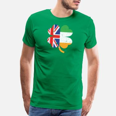 Half Irish Half British Half Irish St. Patricks Day - Men's Premium T-Shirt