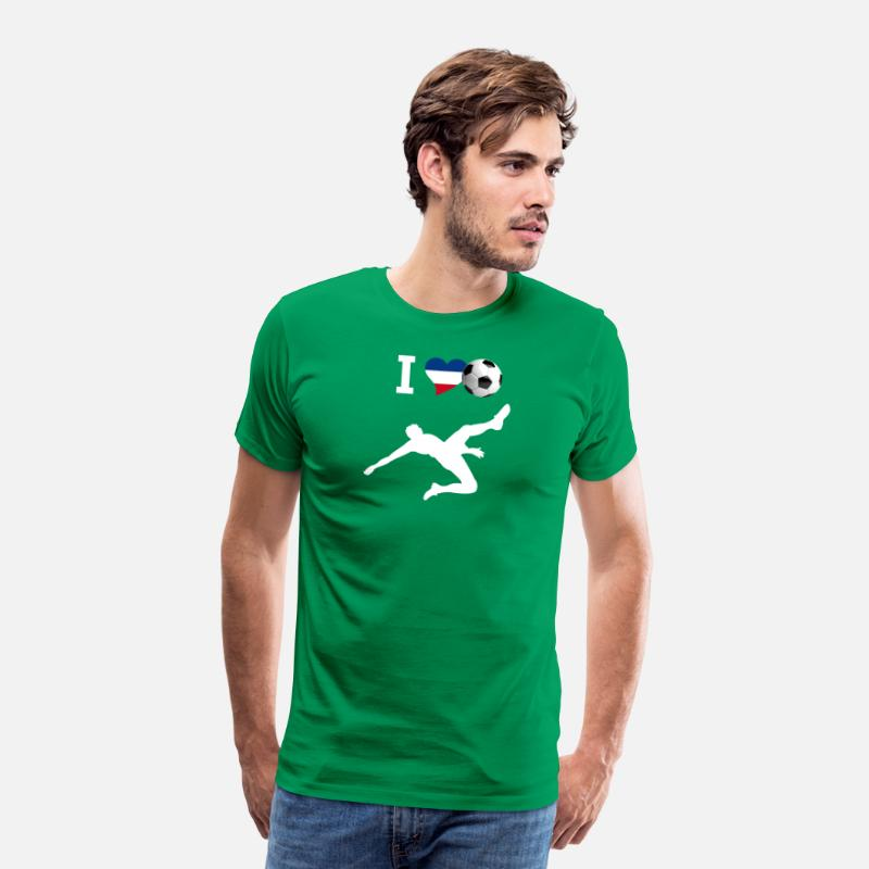 Love T-Shirts - i Love Soccer russia france goal Sport - Men's Premium T-Shirt kelly green