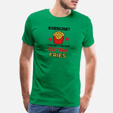 Chip French Fries Foodie Exercises Workout Chips - Men's Premium T-Shirt