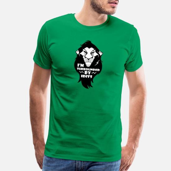 708297f7 Funny Lion King Men's Premium T-Shirt   Spreadshirt