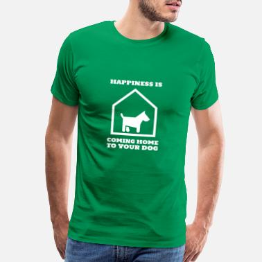 Come Home dog pet home animal i love dogs - Men's Premium T-Shirt
