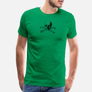 Skull And Crossbones crossbones skull - Men's Premium T-Shirt