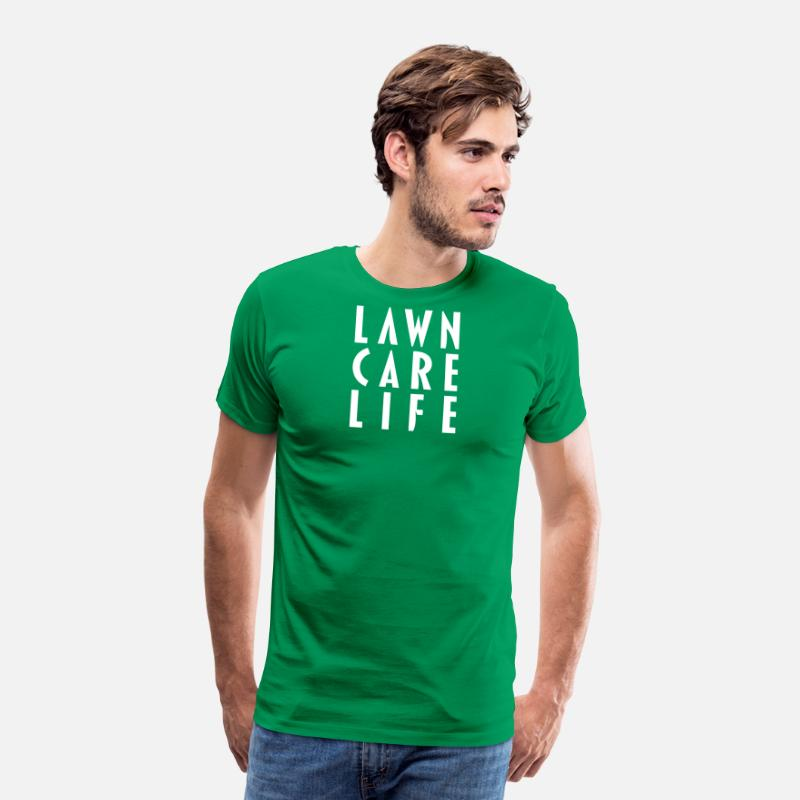 Care T-Shirts - Lawn Care Life apparel - Men's Premium T-Shirt kelly green