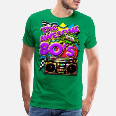 Retro 80s The Awesome 80's - Men's Premium T-Shirt