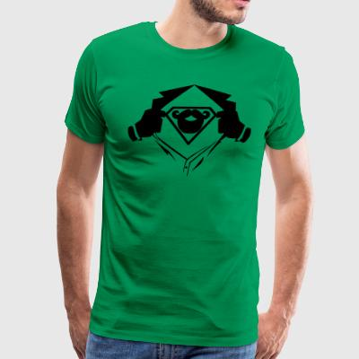 Superman chest beard - Men's Premium T-Shirt