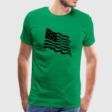Wavy 3 Percenter flag - Men's Premium T-Shirt