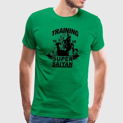 Training to go saiyan - Men's Premium T-Shirt